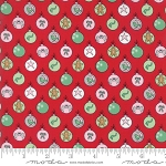 Sugar Plum Christmas 2910-11 Candy Red Shiny Brites by Moda