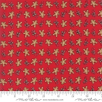 Sugar Plum Christmas 2914-11 Candy Red Gingerbread by Moda