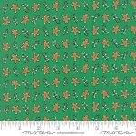 Sugar Plum Christmas 2914-17 Green Gingerbread by Bunny Hill for Moda