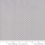Sugar Plum Christmas 2918-19 Mouse Grey Christmas Dot by Moda