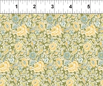 Garden Delights 2GSE2 Gold Dotted Flowers by In The Beginning