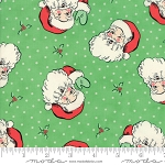 Swell Christmas 31120-14 Green Santa by Urban Chiks for Moda