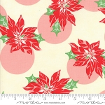 Swell Christmas 31121-11 Cream Poinsettia by Urban Chiks for Moda