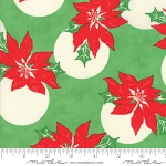 Swell Christmas 31121-14 Green Poinsettia by Urban Chiks for Moda