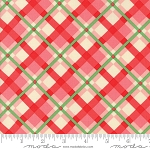 Swell Christmas 31122-15 Pink Red Plaid by Urban Chiks for Moda