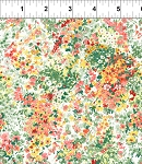 Garden Delights 3GSE1 Coral Green Impressionist by In The Beginning