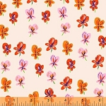 Sleeping Porch 42206-5 Blush Pansies by Heather Ross for Windham