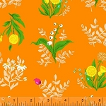 Sleeping Porch 42207-10 Orange Bouquet by Heather Ross for Windham