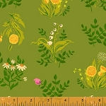 Sleeping Porch 42207-8 Olive Bouquet by Heather Ross for Windham