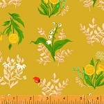 Sleeping Porch 42207-9 Gold Bouquet by Heather Ross for Windham