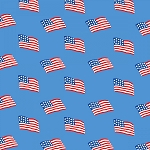 Storybook Americana 42343-3 Blue Flags by Windham