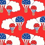 Storybook Americana 42344-1 Red Hot Air Balloons by Windham