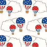 Storybook Americana 42344-2 White Hot Air Balloons by Windham