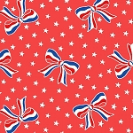 Storybook Americana 42346-1 Red USA Bows by Windham