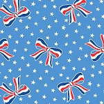 Storybook Americana 42346-3 Blue USA Bows by Windham