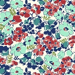 Hello Jane 42915-1 Red Packed Floral by Allison Harris for Windham
