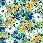Hello Jane 42915-2 Orange Packed Floral by Allison Harris for Windham