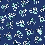 Hello Jane 42917-5 Navy Loop Flower by Allison Harris for Windham