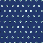 Hello Jane 42918-5 Navy Flower Dot by Allison Harris for Windham