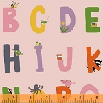 Kinder 43481-1 Pink Alphabet by Heather Ross for Windham