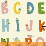 Kinder 43481-3 White Alphabet by Heather Ross for Windham