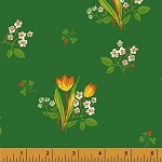 Kinder 43482-6 Green Spring Blooms by Heather Ross for Windham