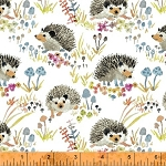 Enchanted Forest 43499-1 White Happy Hedgehogs by Windham