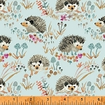Enchanted Forest 43499-3 Aqua Happy Hedgehogs by Windham