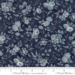 Snowberry 44142-16 Midnight Delicate Sprays by 3 Sisters for Moda