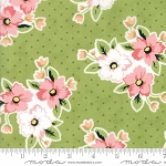 Olive's Flower Market 5030-15 Green Nosegay by Lella Boutique for Moda