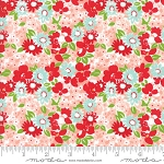 The Good Life 55155-13 Coral Flower Garden by Bonnie & Camille for Moda
