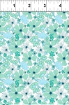 Garden Delights 6GSE4 Aqua Poppy by Gray Sky Studio for In The Beginning