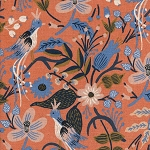 Les Fleurs 8010-22 Peach Folk Birds CANVAS by Cotton + Steel EOB