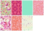 Pinkerville 7 Fat Quarter Set in Cotton Candy by Tula Pink for Free Spirit