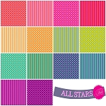 All Stars Coordinates 14 Fat Quarter Set by Tula Pink for Free Spirit