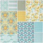 Atrium 10 Fat Quarter Set in Mint by Joel Dewberry for Free Spirit