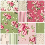 Barefoot Roses 10 Fat Quarter Set by Tanya Whelan for Free Spirit