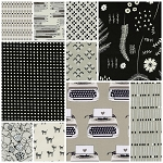 Black & White 10 Fat Quarter Set by Cotton + Steel