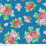 Strawberry Biscuit C5100 Blue Main by Elea Lutz for Penny Rose