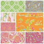 Chinoiserie Chic 7 Fat Quarter Set in Pink by Free Spirit