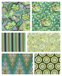 Chipper 6 Fat Quarter Set in Mint by Tula Pink for Free Spirit