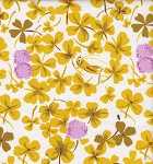 Briar Rose 37026-2 Lilac/Gold Cricket Clover by Heather Ross for Windham EOB