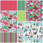 Cool Yule 7 Fat Quarter Set by Josephine Kimberling for Blend
