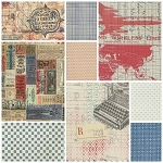 Correspondence II 9 Fat Quarter Set by Tim Holtz for Coats