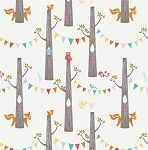 Woodland Party DG-JM14 Organic Double Gauze by Birch