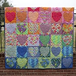 Faded Hearts Quilt Kit by Tula Pink
