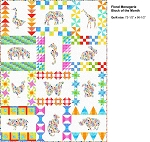 Floral Menagerie Quilt Kit by In The Beginning