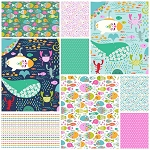 Go Fish 9 Fat Quarter Set by Maude Asbury for Blend