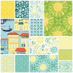 Grand Canal 13 Fat Quarter Set in Cypress by Kate Spain for Moda