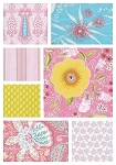 Isabelle 7 Fat Quarter Set in Pink by Dena Designs for Free Spirit